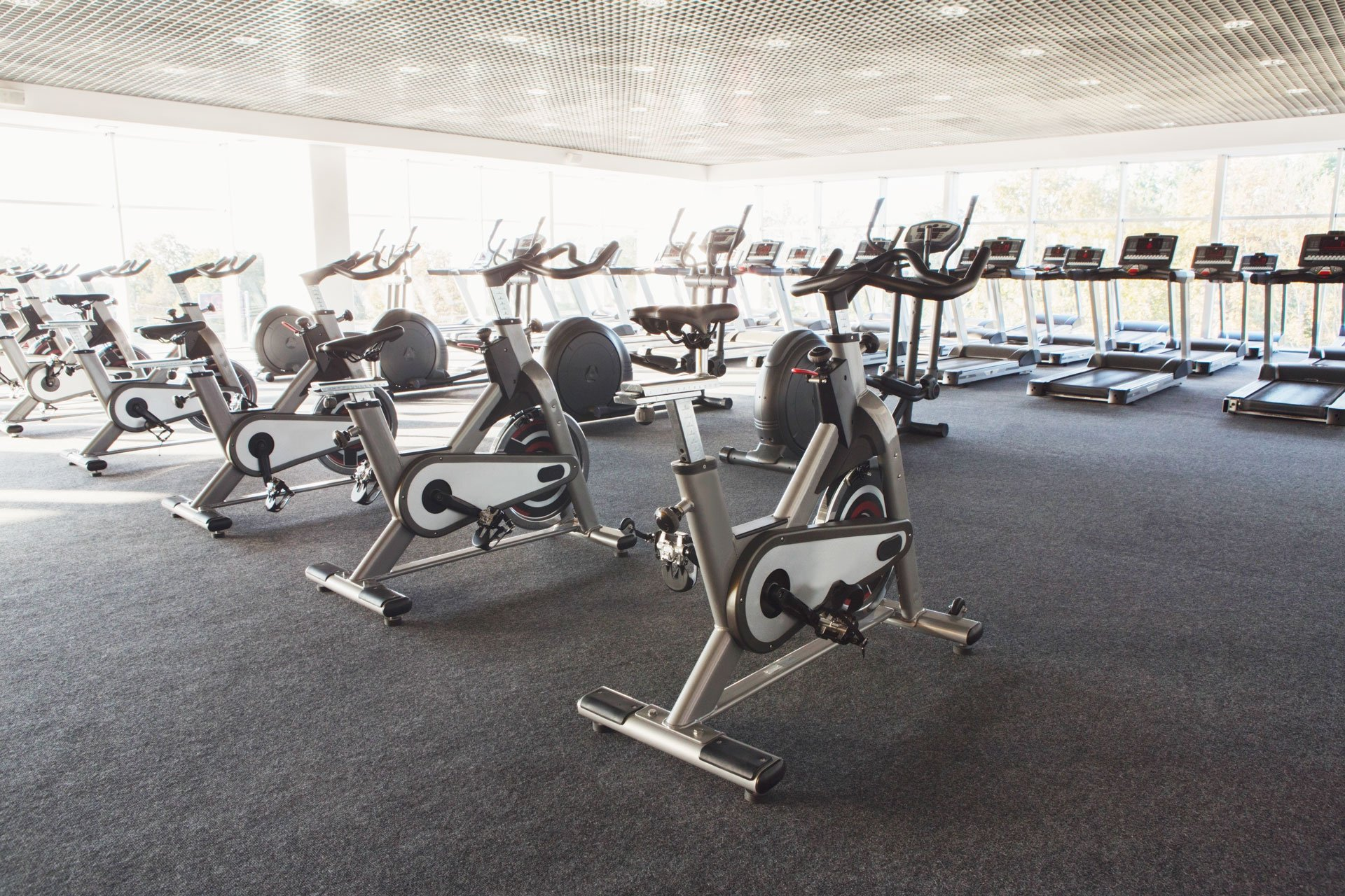 Exercise Bikes in New Gym