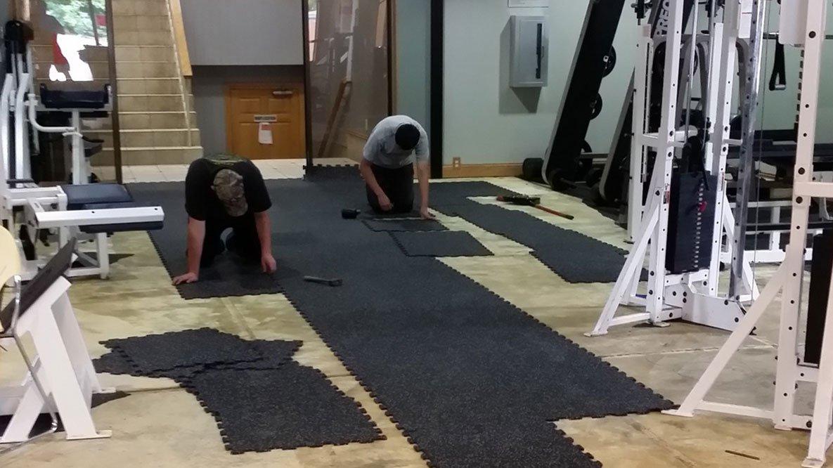 Fitness Equipment Installation, Installing a Gym Floor